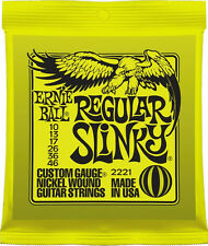 Ernie Ball 2221 Nickel Regular Slinky Electric Guitar Strings Gauge 10-46