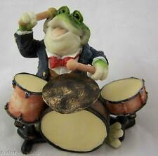 Frog Drummer Drum Player Figurine music 4 X 3 New Mixed Materials
