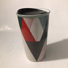 New listing Starbucks Holiday Christmas Trees Double Wall Ceramic Tumbler 12 Oz Very Rare