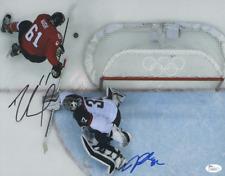 """RICK NASH & JONATHAN QUICK Hand-Signed """"Sochi 2014 Olympics"""" 11x14 Photo JSA COA"""