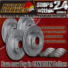 FITS 2016 2017 HONDA CIVIC Drilled Brake Rotors CERAMIC