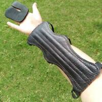ARCHERY ARM GUARD FOUR STRAP *BLACK*  FULL LENGTH GUARD BY ARROWHEAD