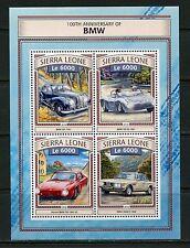 SIERRA LEONE 2017 100th ANNIVERSARY OF BMW SHEET MINT NH