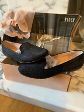 Bloch Daphne Brillo Lurex Zapato De Ballet EU 40 UK 7 Negro