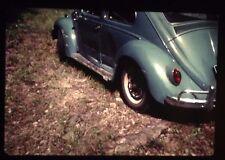 Vintage VW beetle bug Volkswagen 35mm color slide 1963 1960s Crash dents Lot 5