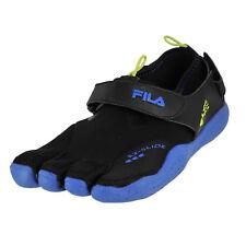 FILA Men's Skele-toes EX Slide Drainage Black/Lime/Blue (Size 11)