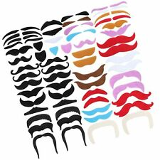 Tatuo 68 Pieces Fake Mustaches Eyebrow Beard St. Patrick's Day Decoration Sel.