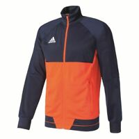 Adidas Fussball Tiro 17 Trainingsjacke Polyester Herren navy orange