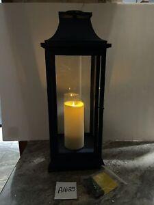 "Luminara 25"" Heritage 3.0 Indoor & Outdoor Lantern with Remote Lovely  Blue Rare"