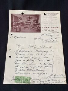 Antique Receipt For Chippendale Mahogany Dining Table ~ Dated 1912 ~ Leicester