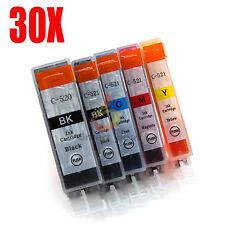 30x Ink Cartridge PGI520 CLI521 for Canon MP890 MP620 MX860 MX870 IP4700 Printer