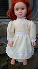 yellow dress with lace trim fits American Girl doll handmade New
