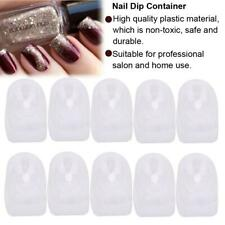 10Pcs Pro French Nail Tips Dip Container Nails Dipping Powder Tray Manicure Tool