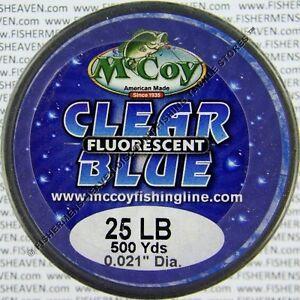 McCoy Fishing Line Copolymer Bulk Spools Mean Green Blue or Clear Any LB Test
