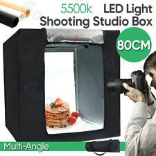 80CM Cube Photo LED Light Tent Studio Lighting Box Photography 3x Backdrop Room