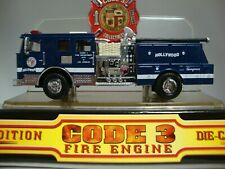 CODE 3 COLLECTIBLES CITY OF LOS ANGELES HOLLYWOOD BLUE SEAGRAVE MINT IN M/DOME