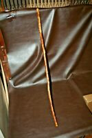 """Vintage 48"""" Wooden Walking Stick Hand Carved w/ Bearded Ent Tree Man Face"""