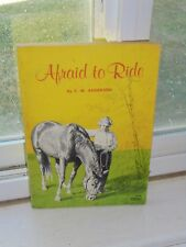 Vintage 1966 Afraid to Ride Children's Paperback Fiction Horse Book