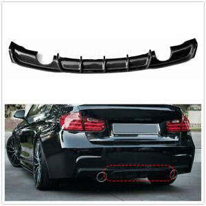 Rear Bumper Diffuser Lip For BMW F30 3 Series 320i 328i 335i 12-18 Carbon Fiber