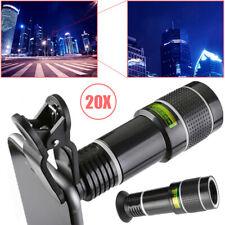 20X Zoom Optical Telephoto Lens External Smart Phone Camera Len Viewing w/ Clip