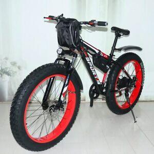 New Electric Snowmobile 48v1000w Per Power 10 Mountain Bike Lithium Carbon Steel