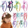 Sweet Girls Kids Flower Hair Hoop Band Bow Accessories Cute Headwear Headbands