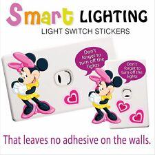 Minnie Mouse Light Switch Sticker - Help Save Power Fun Batman Power Saver