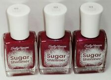 3 Sally Hansen Sugar Shimmer Textured Nail Color Nail Polish CINNY SWEET #03