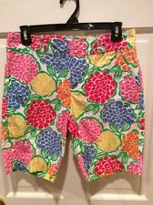 Lilly Pulitzer Resort Fit Floral Print Soft Cotton Shorts, Size 4. Nice!