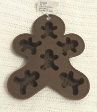 silicone ice cube tray, chocolate mold or drink mold......GINGERBREAD MAN SHAPE