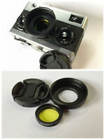 Yellow  Filter + hood for Rollei 35 35B 35TE 40/3.5 with cap