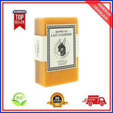 Savon Cannelle/ Orange Au Lait Frais d'Ânesse Bio Naturel Pour Peau De 125 gr