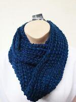 Loop Strick Schal blau warm Winter Polyester Accessoires Damen / Herren