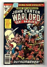 John Carter Warlord of Mars Annual #2 (Sep 1978, Marvel) Bill Mantlo GD/VG (3.0)