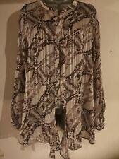 Ladies Wallis Animal Print Sparkly Shirt Blouse Size 14