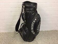"NICE Callaway Golf BIG BERTHA Faux Leather BLACK 9"" STAFF BAG Clean CART Used"