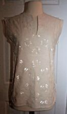 J.CREW COLLECTION EMBROIDERED SEQUIN SHELL SIZE 00 C7190