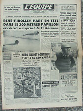 L'Equipe du 5/8/1958 - René Pirolley - Peter Collins - Athlétisme polonais