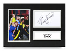 Melanie C Signed A4 Photo Display Spice Girls Music Autograph Memorabilia + COA
