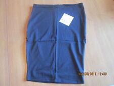 Black lycra pencil underskirt slip waist shaping & control size 10