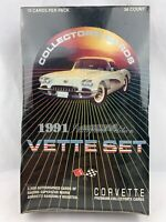 Vette Set 1991 Collector Trading Card Pack Box Corvette Collector Pack Box