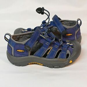Keen Newport H2 Sandals Adjustable Elastic Hook and Loop Blue Fits like sz 11