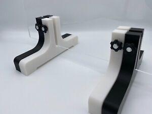 2xUniversal Plexiglas Halter,Standfüße, Tresenaufsteller,Scheiben 2mm-10mm