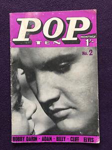 POP TEN MONTHLY magazine no.2 (1962) ELVIS Cliff BILLY FURY