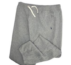 Polo Ralph Lauren Sweatpants Fleece Joggers Sweats Gray Pony Youth Sz XL 18/20