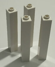 *NEW* 4 Pieces Lego BRICKS 1x1x5 WHITE with OPEN STUD