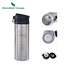 Titanium Warm Keeping Pot Double-walled Vacuum Cup Insulation Flask Water Bottle