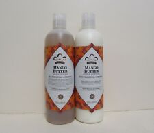 Mango Butter Lotion & Body Wash Set.. by Nubian 13oz each (2 Bottles)