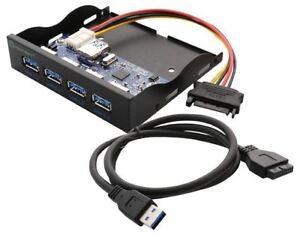 SYBA SY-HUB20211 4 Port USB 3.0 Hub Panel 3.5inch Floppy Bay