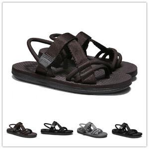 39-45 Mens Summer Slingback Sandals Beach Roman Shoes Clip Toe Flats Leisure New
